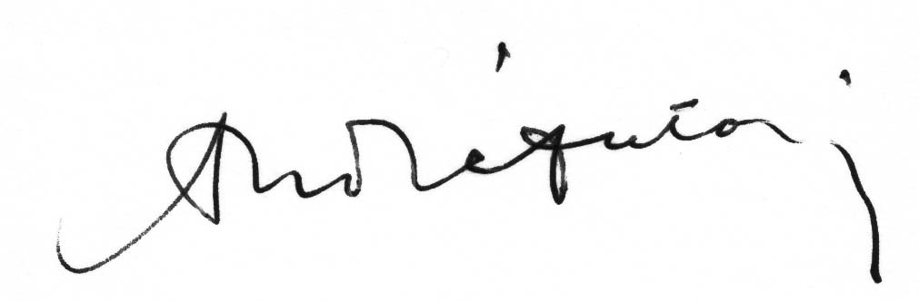 Signature d'A. Antonin